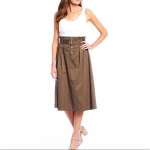 Antonio Melani Eleanor Paperbag Midi Skirt Size 2